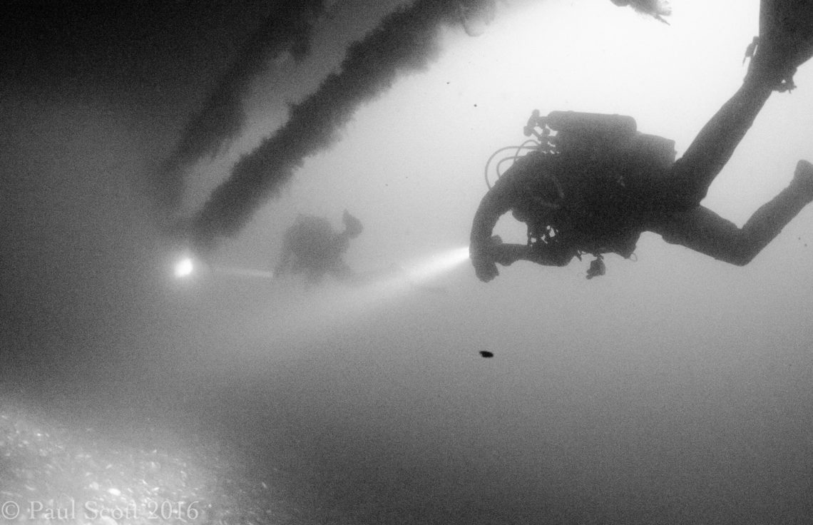 Under the Bow of the Port Napier Wreck, Isle of Skye, Scotland