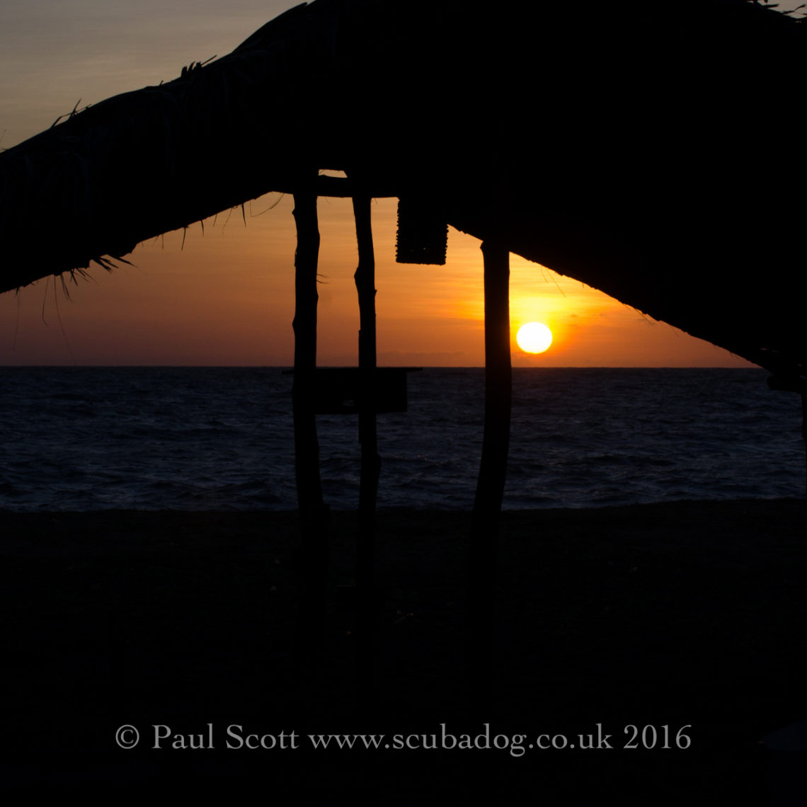 Sunset at the Palagama Beach Resort Kalpitiya Sri Lanka