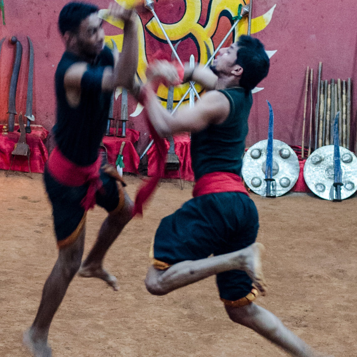 Kalaripayattu Martial Arts Demonstration at Thekkady Kerala
